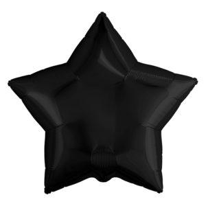 Шар (19''/48 см) Звезда, Черный