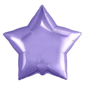 Шар (21''/53 см) Звезда, Сиреневый