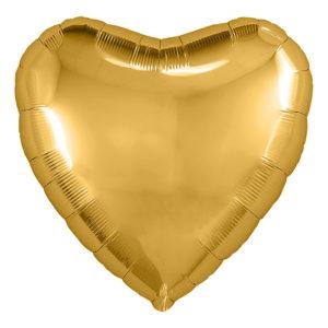 Шар (18''/46 см) Сердце, Золото