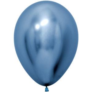 Шар (12''/30 см) Reflex, Зеркальный блеск, Синий (940), хром
