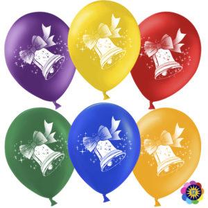 Воздушный шар (12''/30 см) Колокольчик, Ассорти, пастель