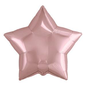 Шар (21''/53 см) Звезда, Розовое Золото