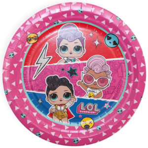 Тарелки (7''/18 см) Кукла ЛОЛ (LOL), Рок-звезды, Розовый, 6 шт.