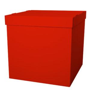 Коробка для воздушных шаров Красный, 60*60*60 см