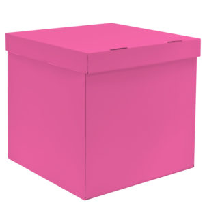 Коробка для воздушных шаров Розовый, 60*60*60