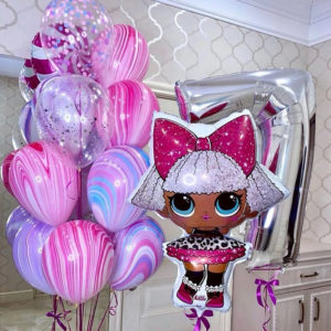 Воздушные шары - популярные куклы ЛОЛ (LOL)