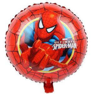 "Шар (18""/46 см, CHN) Круг, Человек-паук, красный"