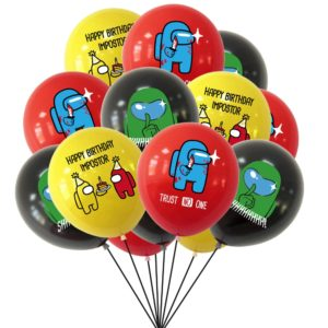 Воздушные шары из популярной игры Among Us