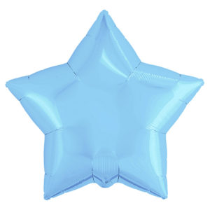 Шар (30''/76 см) Звезда, Холодно-голубой