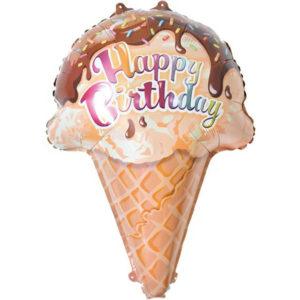 Шар (28''/71 см) Фигура, Мороженое, Вафельный рожок