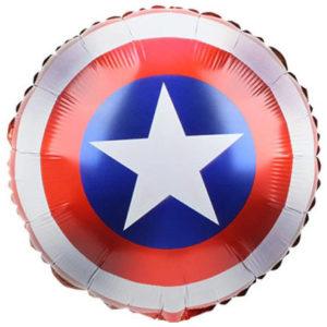 Шар (18''/46 см, CHN) Капитан Америка. Щит, круг