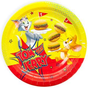 Тарелки (7''/18 см) Том и Джерри, 6 шт.