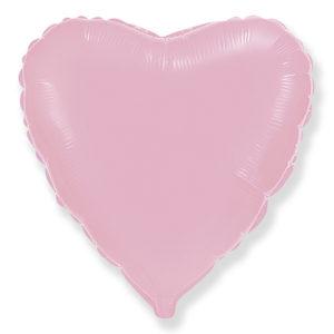 Шар (32''/81 см, ESP) Сердце, Розовый