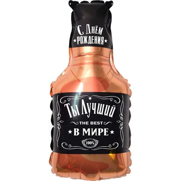 Шар. Бутылка Виски. Лучший В Мире, №1 (32''/81 см, CHN)