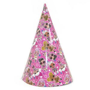 Колпаки Кукла ЛОЛ (LOL), Модные подружки, Розовый, 6 шт.