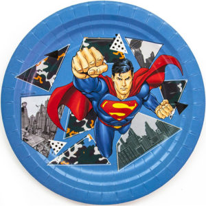 Тарелки (7''/18 см) Супермен, 6 шт.