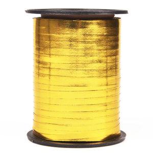 Лента праздничная металлизированная (0,5 см x 250 м) Золото