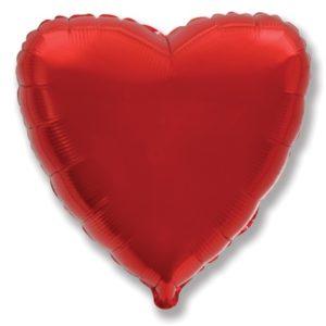 Шар (32''/81 см, ESP) Сердце, Красный