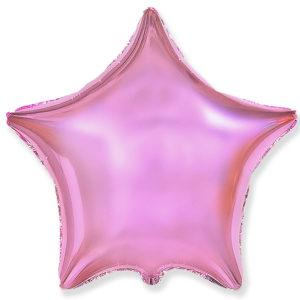 Шар (19''/46 см, ESP) Звезда, Светло-розовый