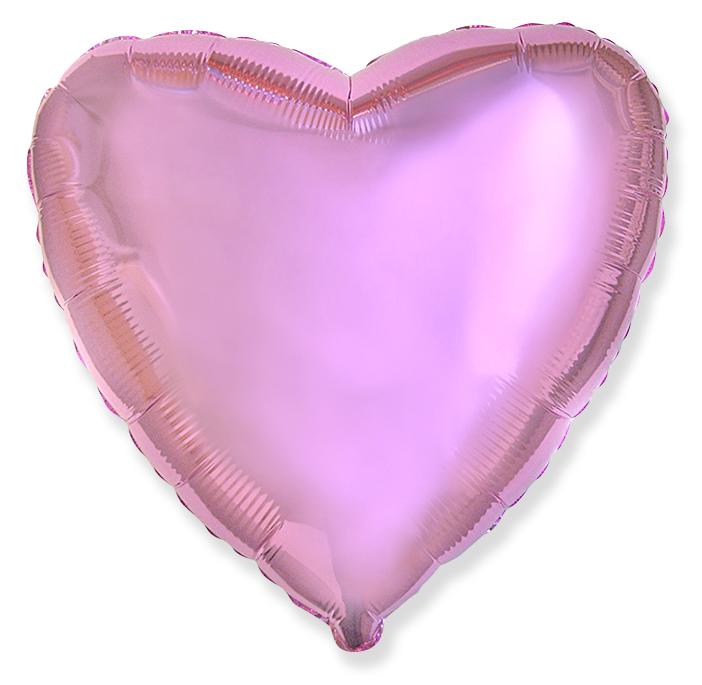 Шар (18''/46 см, ESP) Сердце, Светло-розовый