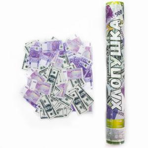 Пневматическая хлопушка (16''/40 см) Доллары и Евро