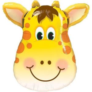 Шар. Сафари. Голова, Милый Жираф, большая (34''/86 см, CHN)