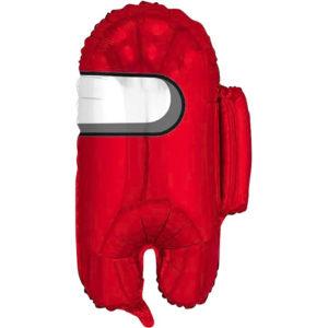 Шар (26''/66 см, ESP) Фигура, Космонавтик, Красный