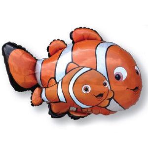 Шар (34''/86 см, ESP) Фигура, Рыба-клоун Немо, Оранжевый